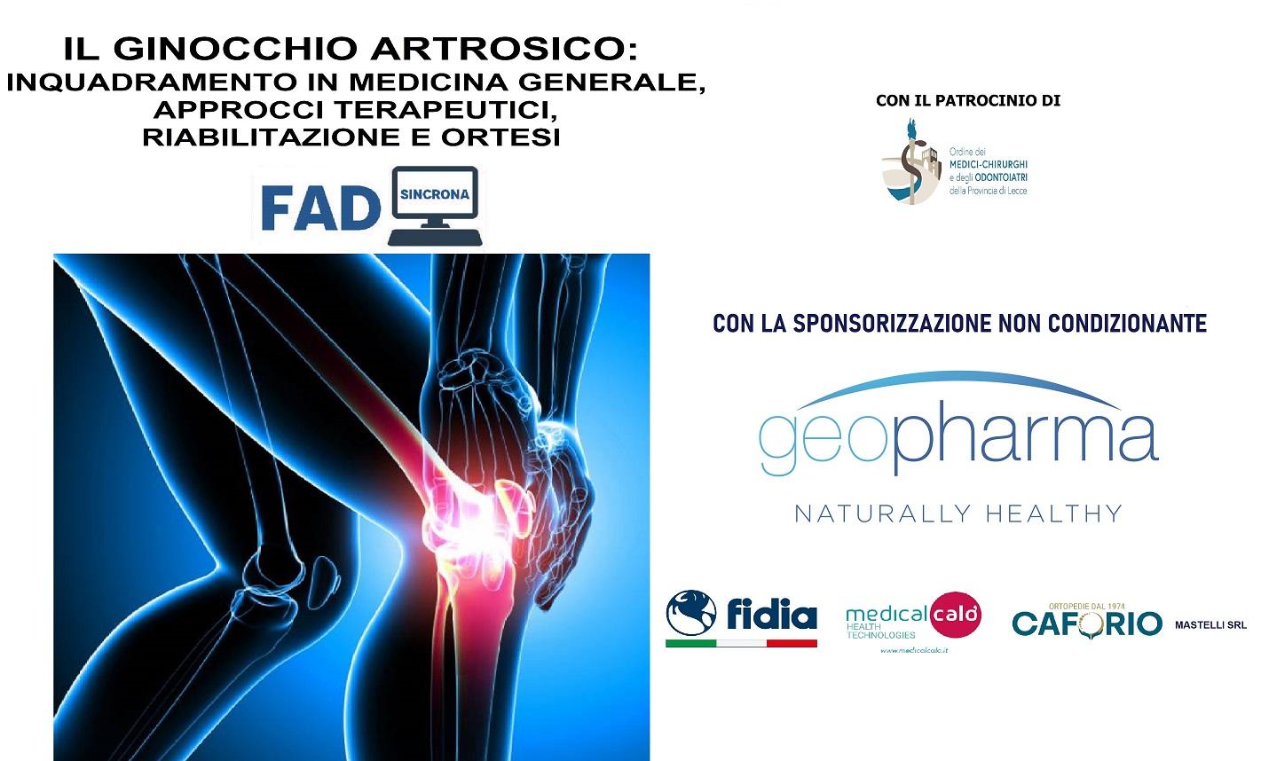 Course Image IL GINOCCHIO ARTROSICO:  INQUADRAMENTO IN MEDICINA GENERALE, APPROCCI TERAPEUTICI, RIABILITAZIONE E ORTESI