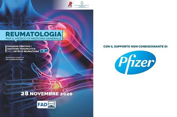 Course Image REUMATOLOGIA PER IL MEDICO DI MEDICINA GENERALE:  DIAGNOSI PRECOCE E GESTIONE TERAPEUTICA DELL'ARTRITE REUMATOIDE 2.0